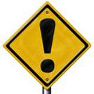 注意の標識の画像
