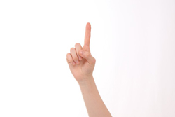 人差し指を立てた画像