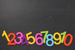 黒板と数字の画像