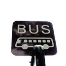 バス停の看板の画像