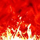 燃え上がる炎の画像