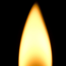ろうそくの炎の画像